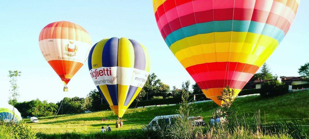 Festa dell'Aria a Capannori. Tornano le mongolfiere! In gara ogni giorno dal 5 al 9 settembre 2018.