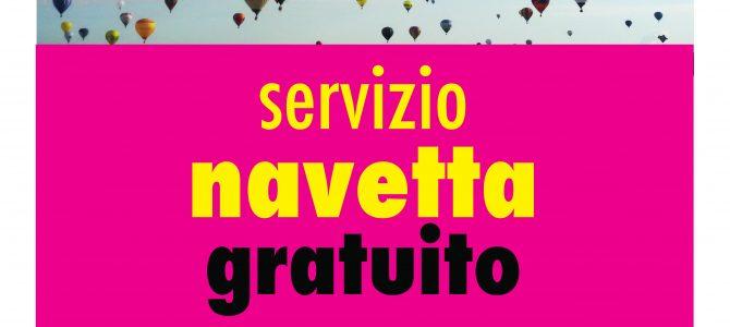 Sabato 8 navetta notturna gratuita per l'aeroporto di Capannori